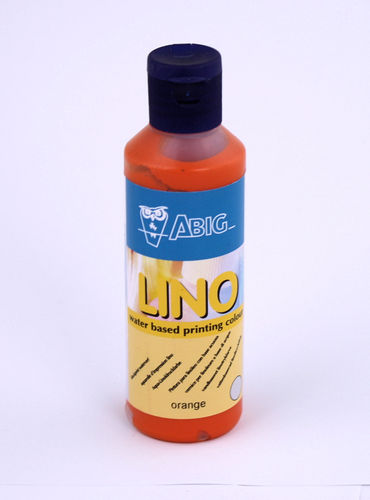 80 ml Aqua-Linoldruckfarbe orange